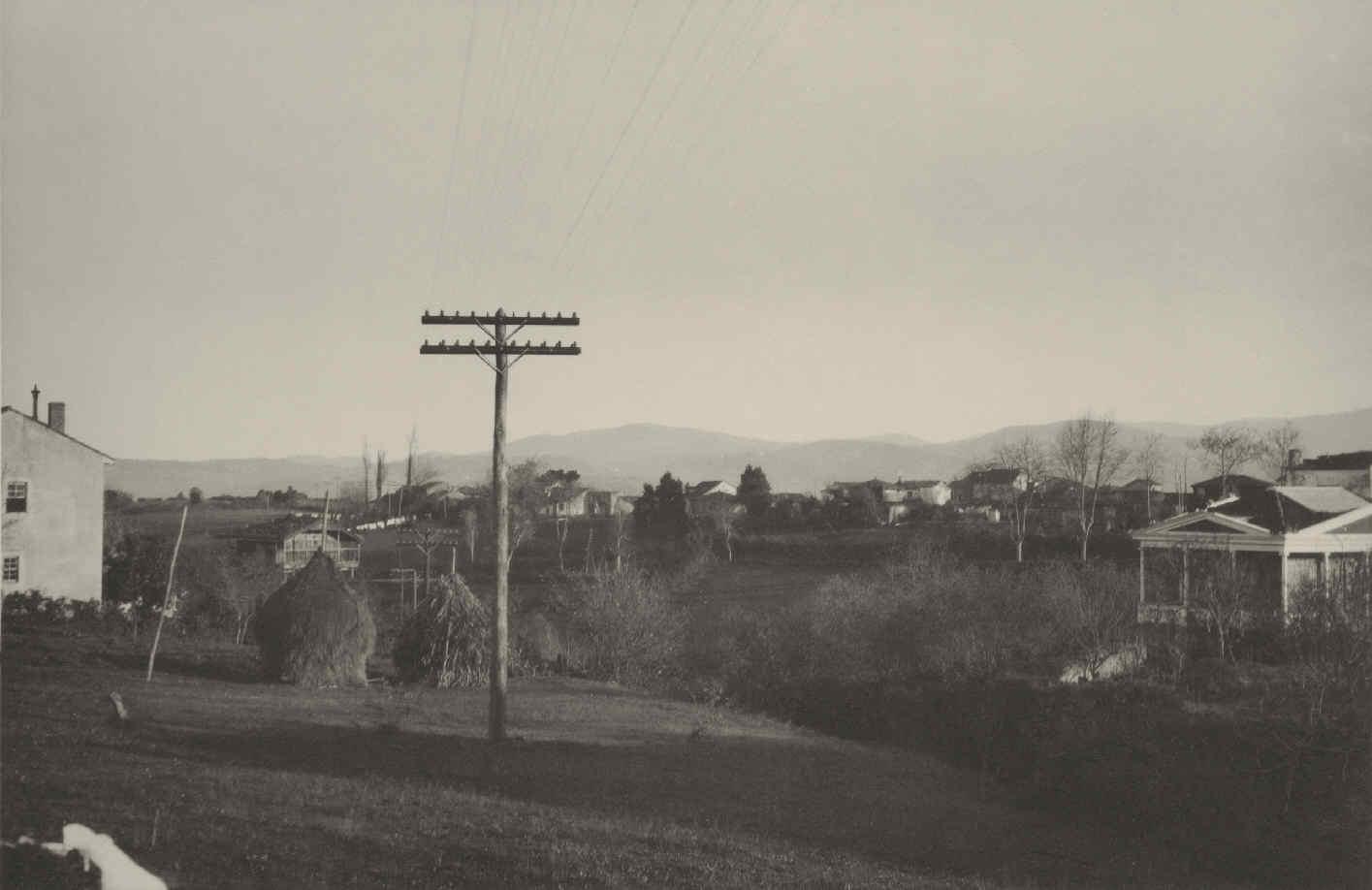 Línea telefónica Coruña-Oviedo, en 1917.