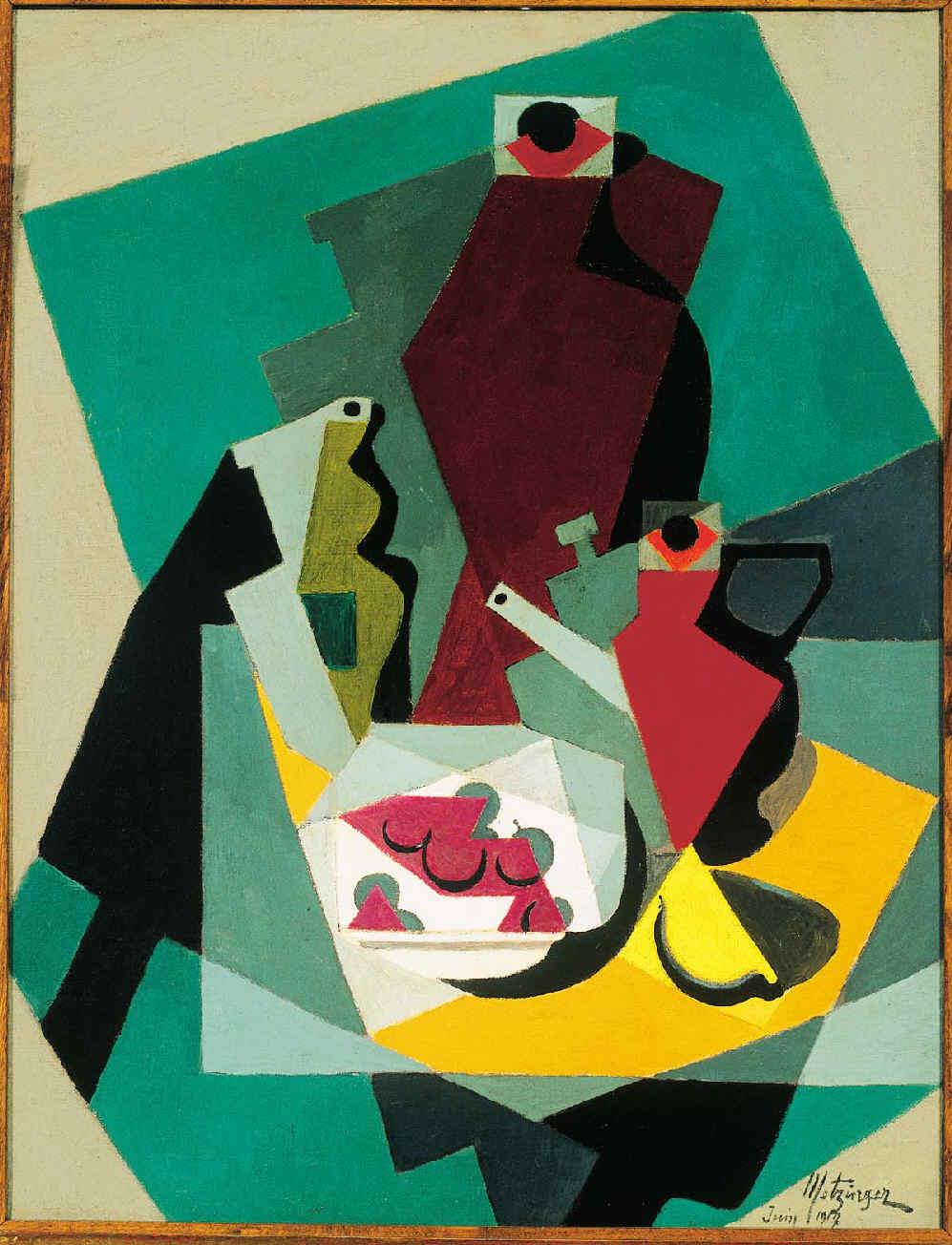 METZINGER, Jean, <i>Nature morte avec fruits et pitcher</i>