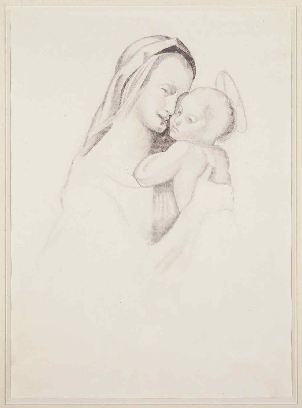 GRIS, Juan, <i>Vierge et enfant</i>
