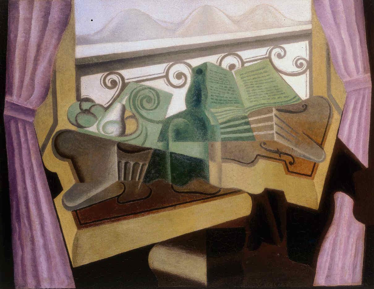 GRIS, Juan, <i>La fenêtre aux collines</i>