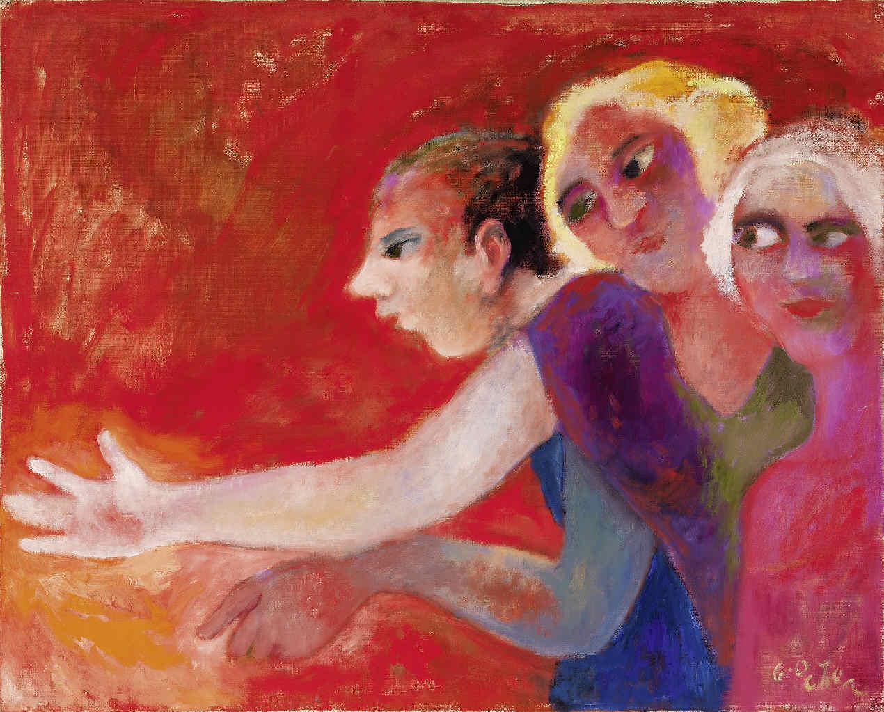 GARCÍA OCHOA, Luis, <i>Figuras contemplándose</i>