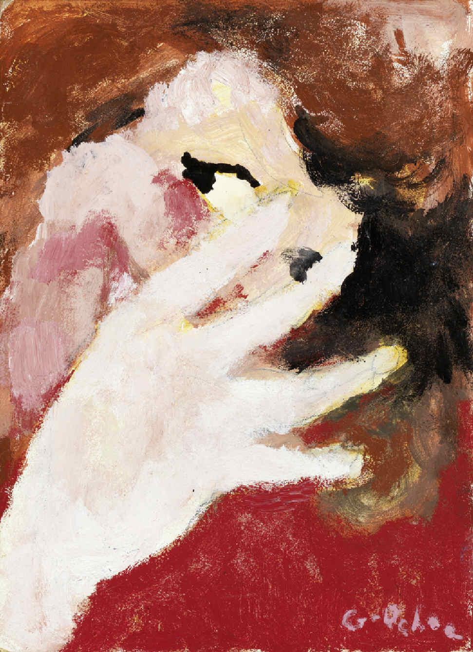 GARCÍA OCHOA, Luis, <i>Mujer tapándose la cara</i>