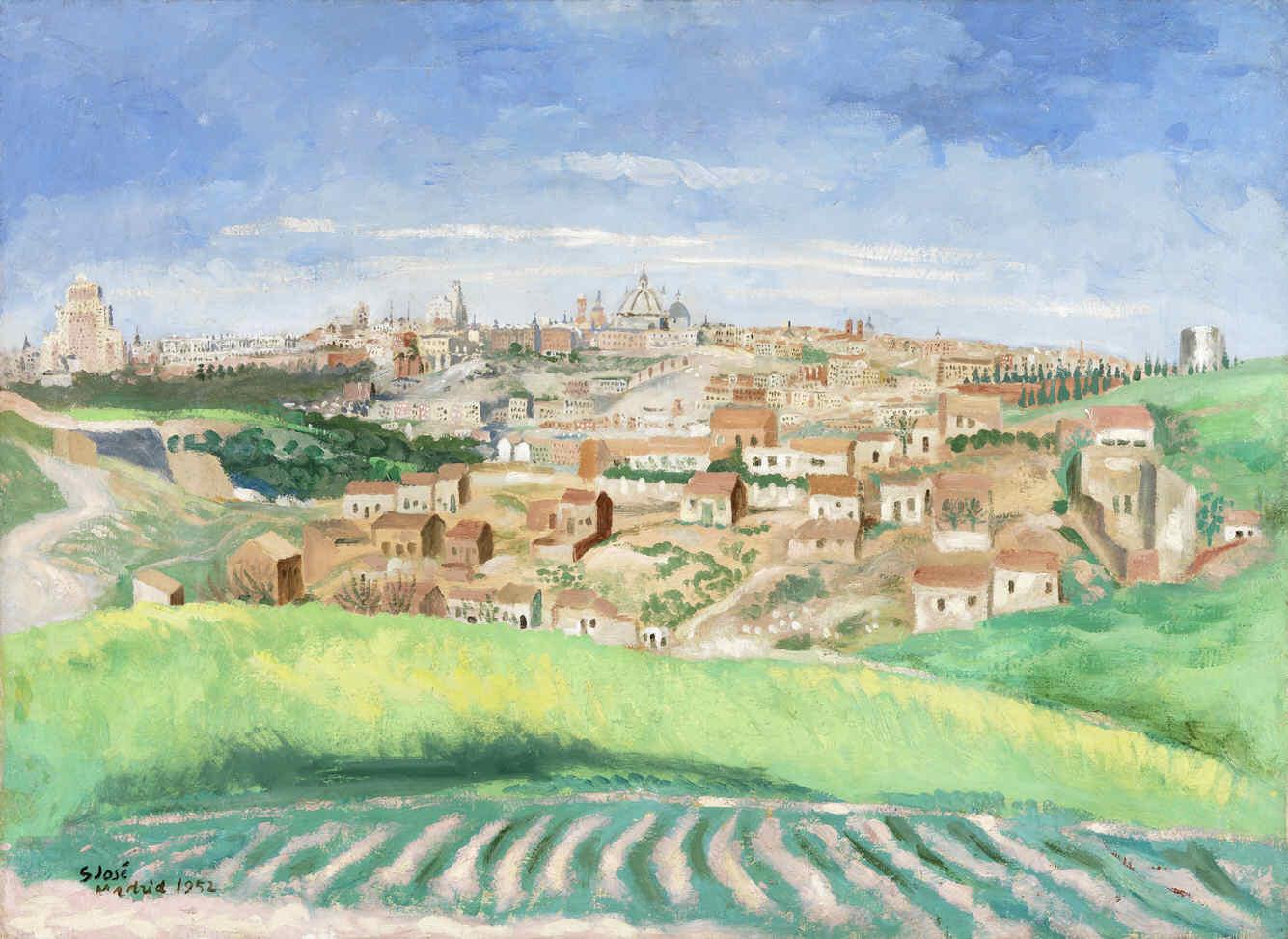 SAN JOSÉ, Francisco, <i>Vista de Madrid, desde los campos de Vargas</i>