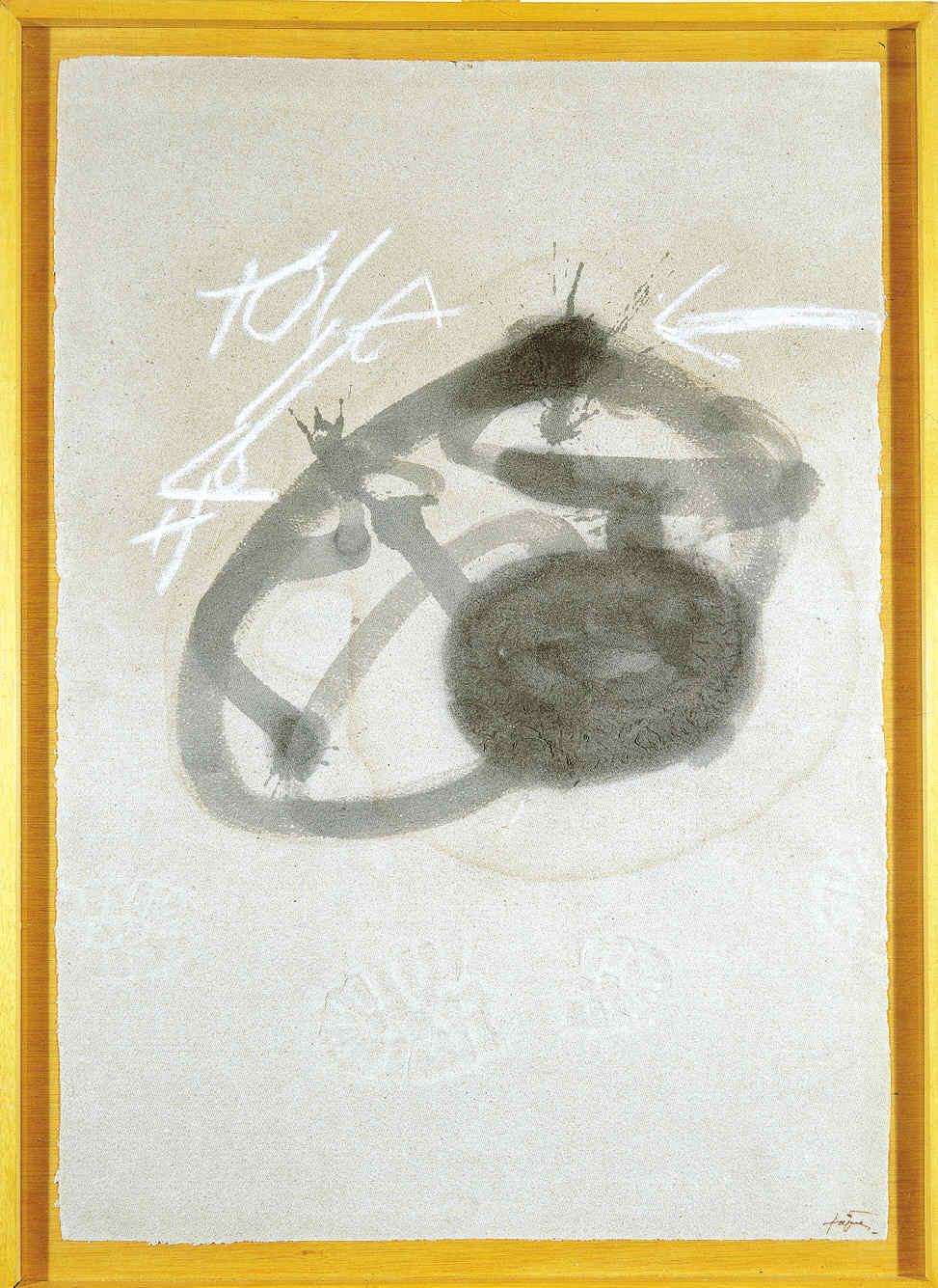 TÀPIES, Antoni, <i>Cal.ligrafia amb petjades</i>