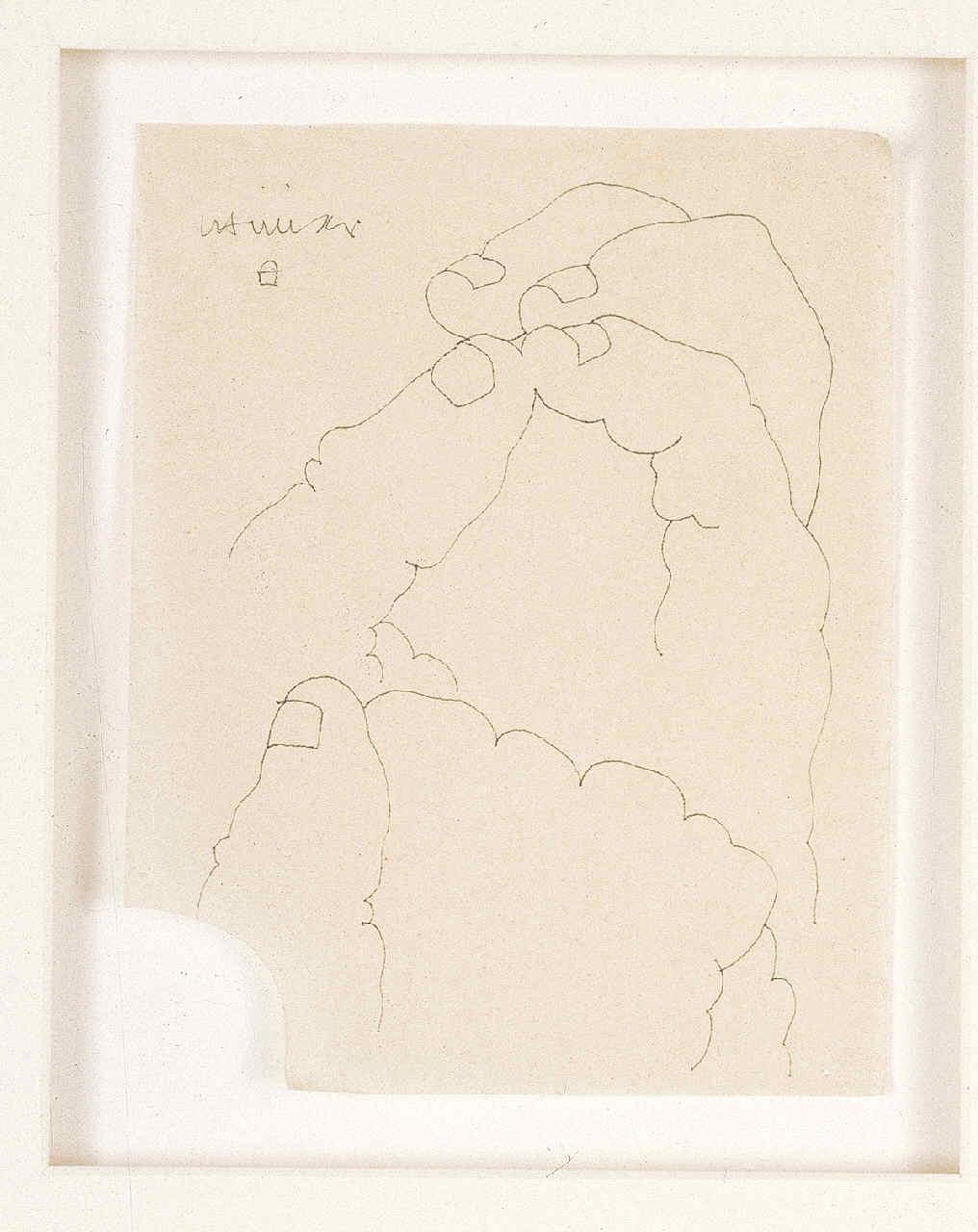 CHILLIDA, Eduardo, <i>Dibujo (manos)</i>