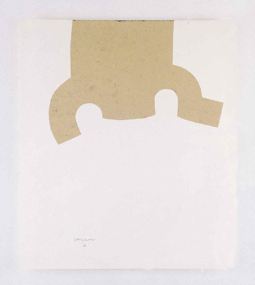 CHILLIDA, Eduardo, <i>Collage beige (gravitación)</i>