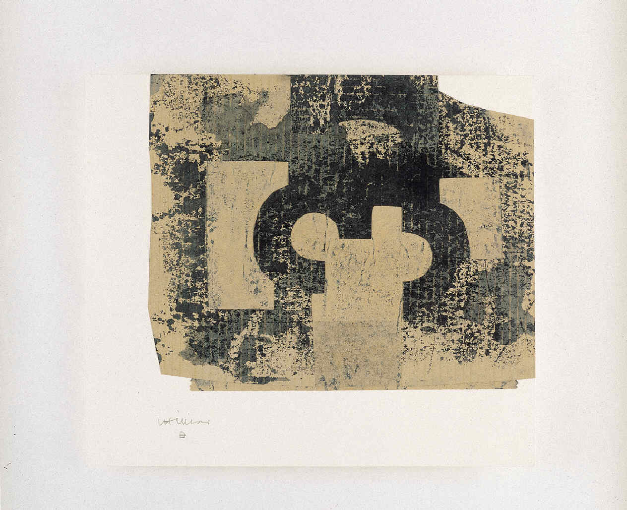 CHILLIDA, Eduardo, <i>Collage beige y dibujo</i>