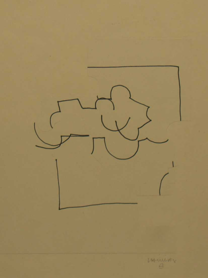 CHILLIDA, Eduardo, <i>Collage (Homenaje a Ciorán)</i>