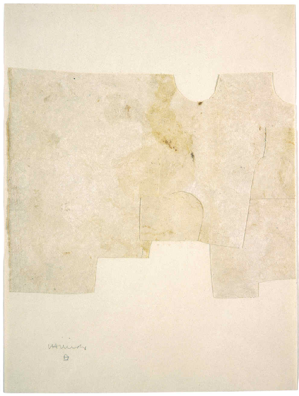 CHILLIDA, Eduardo, <i>Collage beige</i>