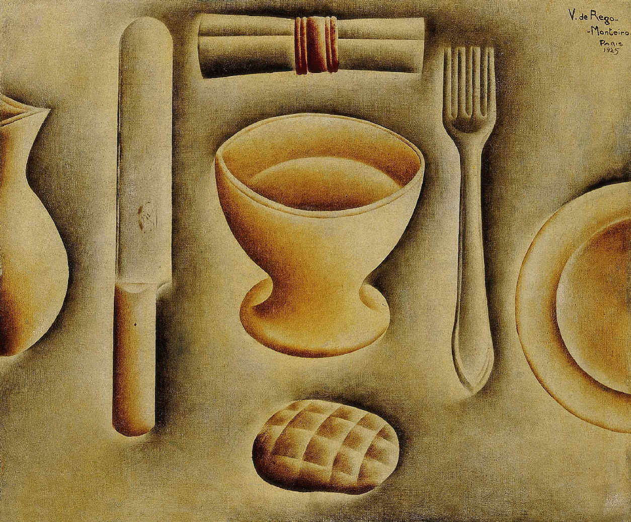 DO REGO MONTEIRO, Vicente, <i>Os Talheres (Nature morte aux couverts)</i>
