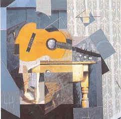 ALCALACANALES, Guitarra acuchillando una mesa seccionada